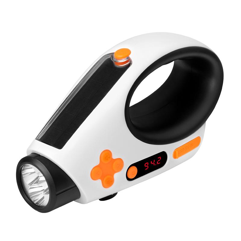 松鼠手提式太阳能手电筒